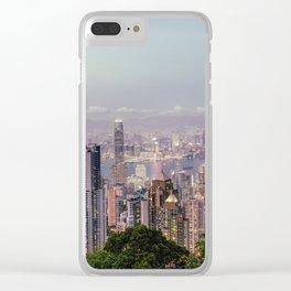Hongkong sunset 2 Clear iPhone Case