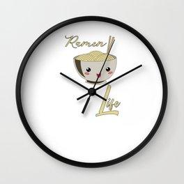 Ramen Life Japanese Noodles Wall Clock
