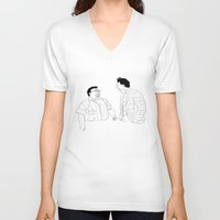 seinfeld V-neck T-shirts featuring Seinfeld by visualinterpreter