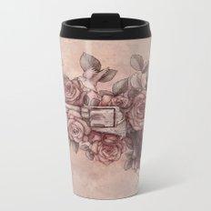Guns & Flowers Metal Travel Mug
