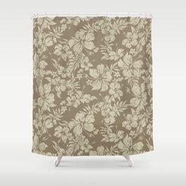 Hibiscus Pareau Hawaiian Floral Aloha Shirt Print Shower Curtain