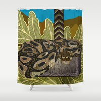 thor Shower Curtains featuring Python - Thor by ArtLovePassion