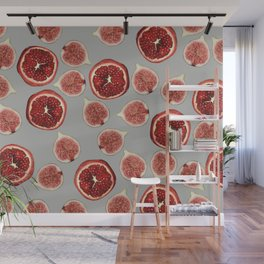 figs - Pomegranate - grey Wall Mural