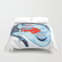 zombie Duvet Covers featuring Zombie by Jessica Slater Design & Illustration