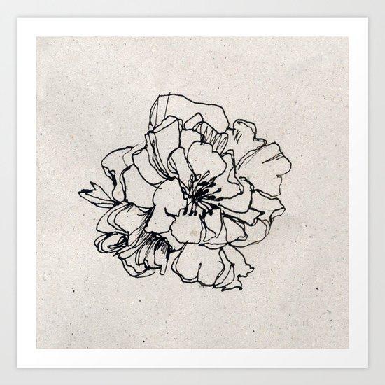 Flower Hairpin Art Print