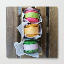 French Macaron Ice Cream Sandwiches Metal Print