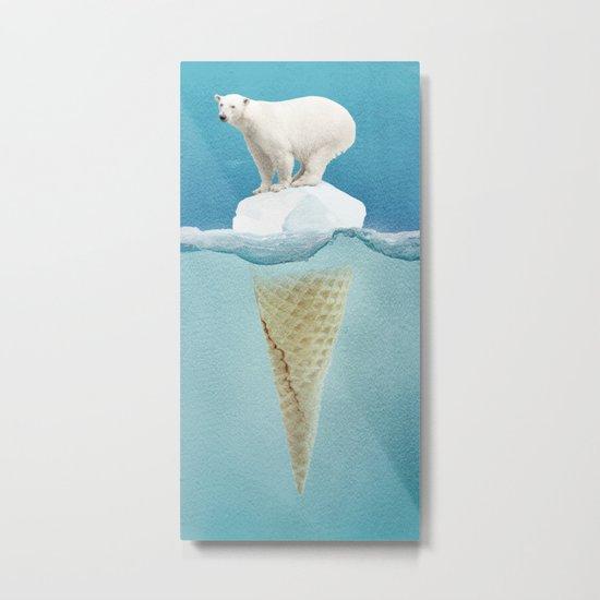 Polar ice cream cap Metal Print