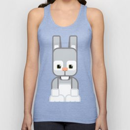 Silver Grey Bunny Rabbit - Super Cute Animals Unisex Tank Top