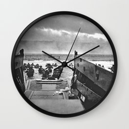 Omaha Beach Landing D Day Wall Clock