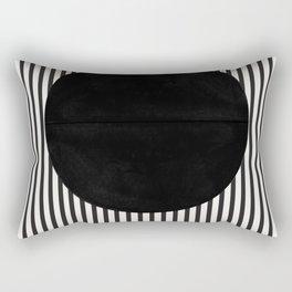 Stripes and Circle, Bauhaus Style  Rectangular Pillow