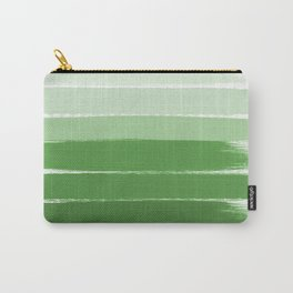 Yote - ombre green brushstrokes abstract minimal canvas painting art decor Carry-All Pouch