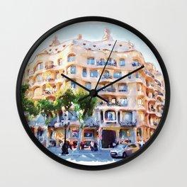 La Pedrera Barcelona Wall Clock