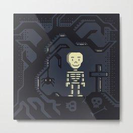 Skeleton boy artwork Metal Print