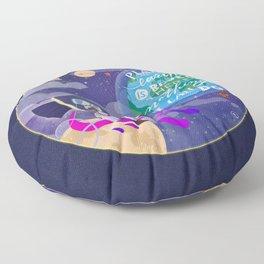 MajorTom in Space Floor Pillow