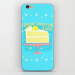 All American Classic Lemon Chiffon Cake iPhone Skin