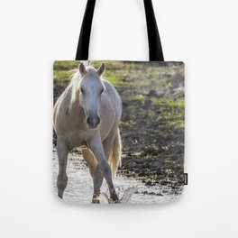 Traveler Making a Splash Tote Bag