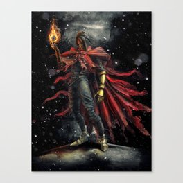 Epic Vincent Valentine Final Fantasy Painting Portrait Canvas Print