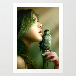 Green Whisper Art Print