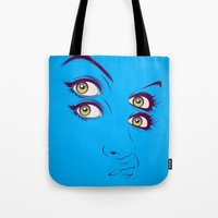randy c Tote Bags featuring C. by CranioDsgn
