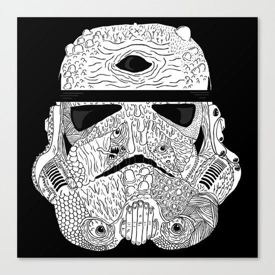 Gore Trooper Blk/Wht Canvas Print