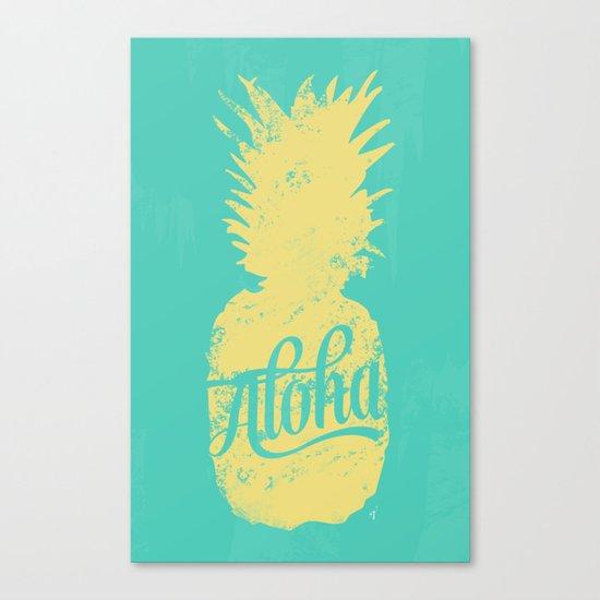 ALOHA - Pineapple print Canvas Print