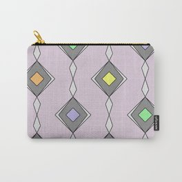 Retro Diamond Pattern - Mid Century, pastel, design Carry-All Pouch
