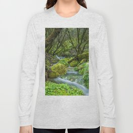 Deep in the green forest Long Sleeve T-shirt