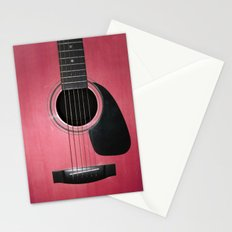 Pink Guitar Stationery Cards