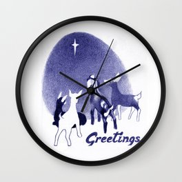 Christmas in the Stable Wall Clock