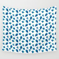 diamonds Wall Tapestries featuring diamonds by Sil Elorduy