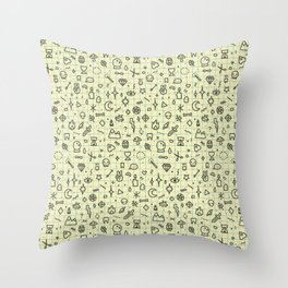Doodles Pattern Throw Pillow