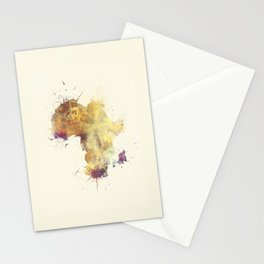 Africa map 5 #africa Stationery Cards