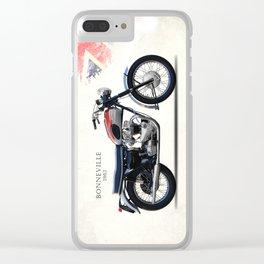 Bonneville T120 1962 Clear iPhone Case