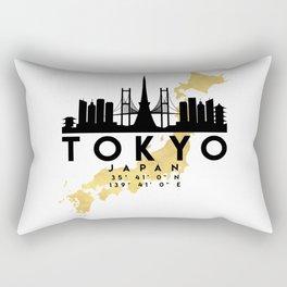 TOKYO JAPAN SILHOUETTE SKYLINE MAP ART Rectangular Pillow