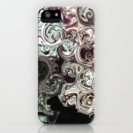 metal waves iPhone Case
