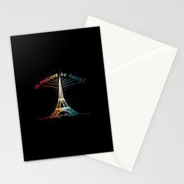 Le Magique De Paris (the magic of...) French Artwork, Eiffel Tower Print Stationery Cards