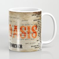 oasis Mugs featuring Oasis by Colo Design
