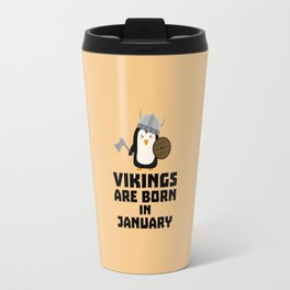 Vikings are born in January T-Shirt Dmwc7 Travel Mug
