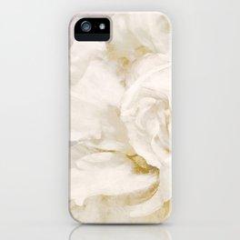 Petals Impasto Alabaster iPhone Case