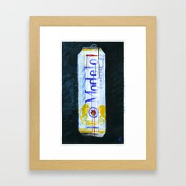 "Modelo Especial (2010), 17"" x 27"", acrylic on gesso on chipboard Framed Art Print"