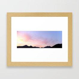 Kumano River Sunset Framed Art Print