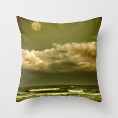 Alien Shore Throw Pillow