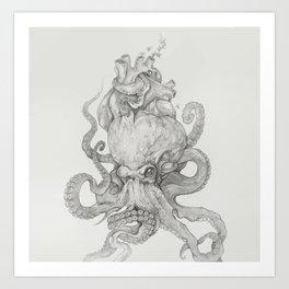 Corrupted heart Art Print