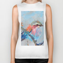 Lilac Breasted Roller Biker Tank