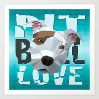 pit bull Art Prints featuring Pit Bull by Benjamin Ring