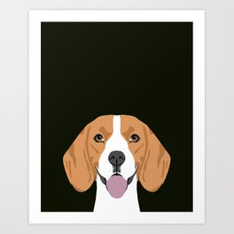 Darby - Beagle gifts for pet owners and dog person with a beagle Art Print