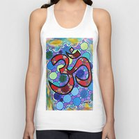 om Tank Tops featuring OM by Art By Carob
