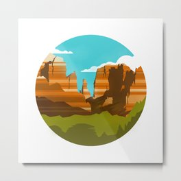 Canyons Metal Print
