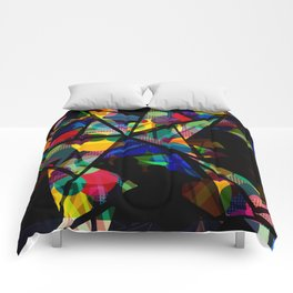 Geometric Splash Comforters