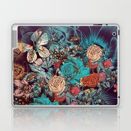 Beautiful print with hand drawn roses and butterflies in vintage style Laptop & iPad Skin